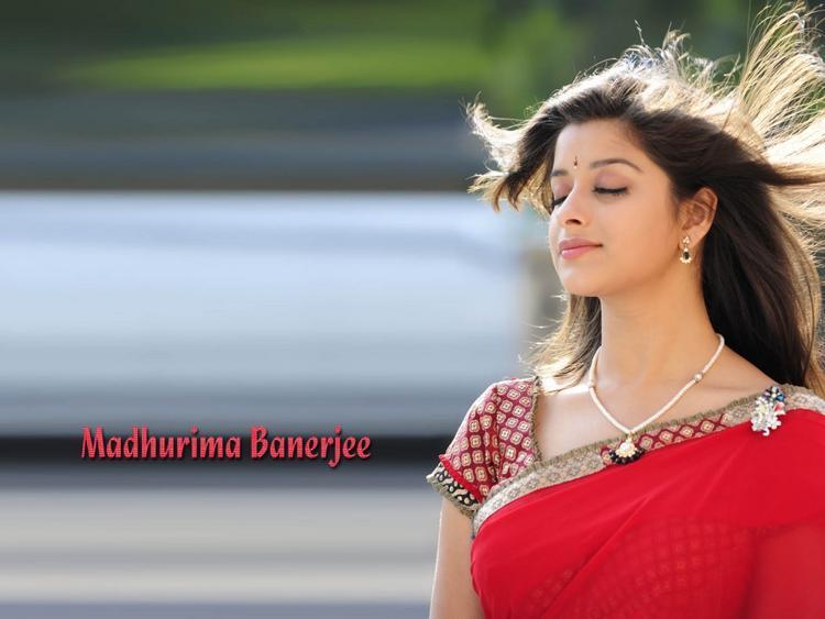 Madhurima Banerjee  looking beautiful in red saree