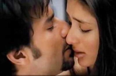 Saif Ali Khan and Kareena Kapoor kiss still in kurbaan