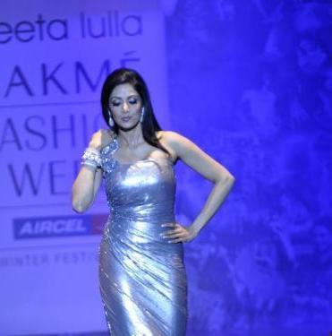 Sridevi Kapoor walk ramps at Lakme Fashion Week