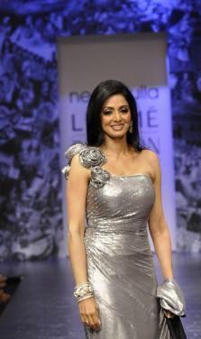 Lakme Fashion Week  Sridevi cute smile pictures
