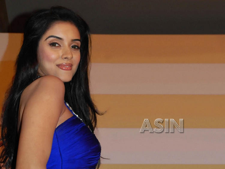 Asin in blue color dress wallpaper