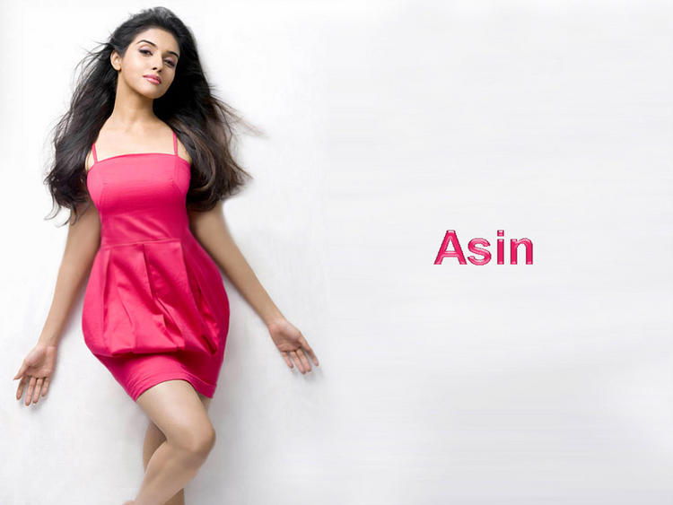 Asin in pink dress wallpaper
