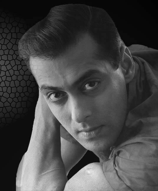 Salman Khan black and white wallpaper