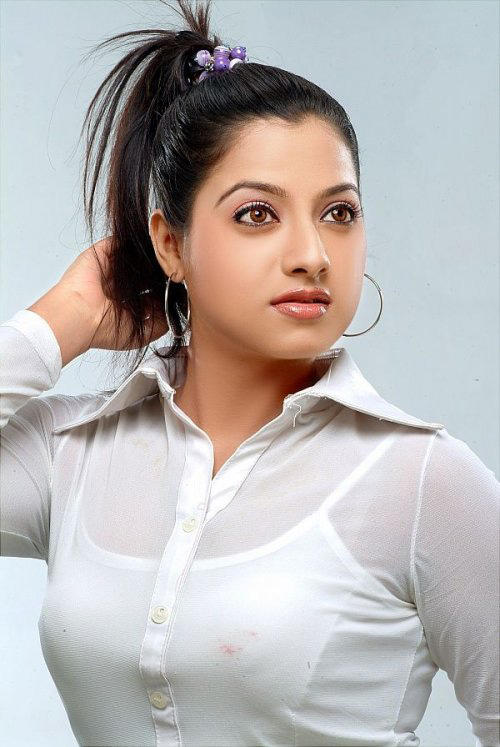 Keerthi Chawla hot pics with white dress