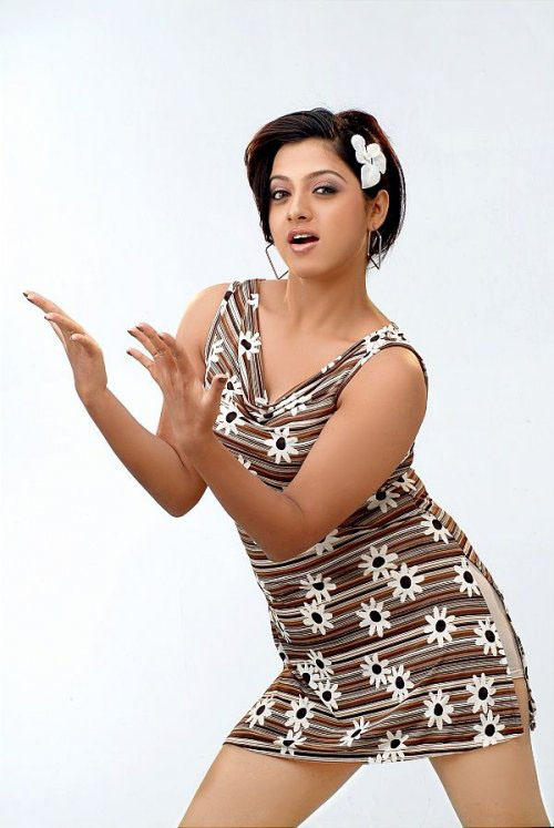 Hot Keerthi Chawla short dress still