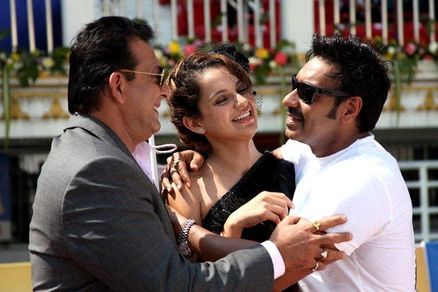 Ajay Devgan,Sanjay Dutt & Kangana Ranaut comedy stills in Rascals Movie