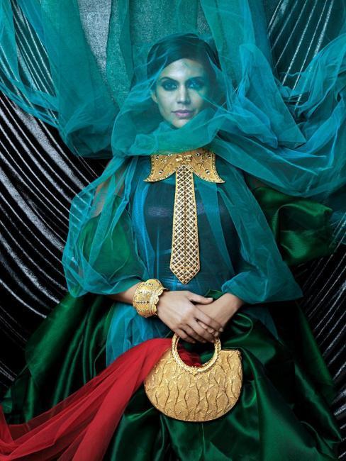 Mandira Bedi Gaja Jewellery Ad Photo Shoot