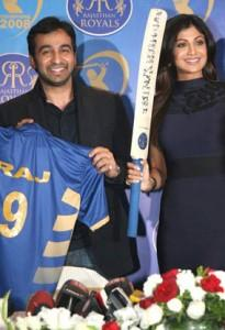 Shilpa and Raj at the Press Meet to Announce Their Investment In The IPL Team