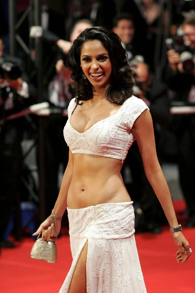 Mallika Sherawat Sexy Belly Still at Cannes