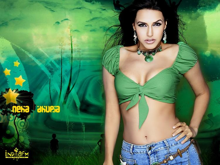Neha Dhupia Latest Spicy Look Wallpaper