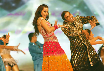 Neha Dhupia Stage Performance Still