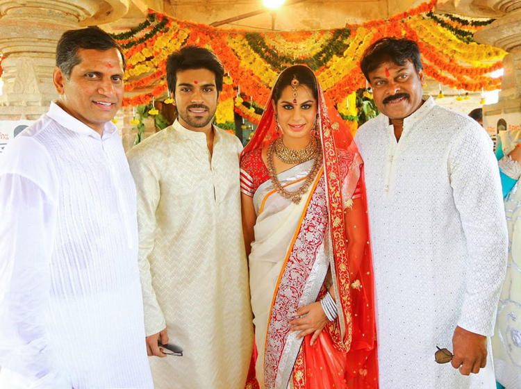 Ram Charan and Upasana Kamineni Wedding Pic