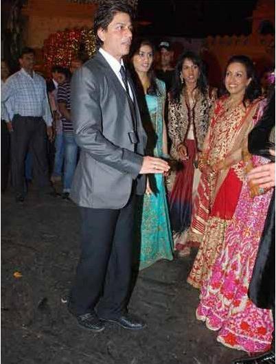Shahrukh Khan at Saurabh Dhoots Wedding