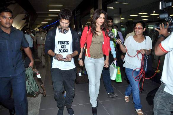 Shahid Kapoor and Priyanka Chopra with the IIFA 2012 Trip and Teri Meri Kahaani Promotions