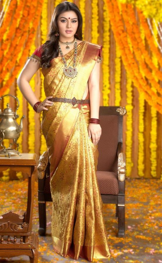 Hansika Motwani in Chennai Silks Advertisement Photo Shoot