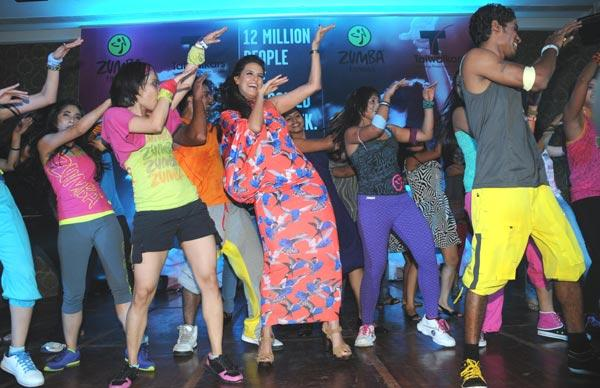 Neha Dhupia Performing at Zumba Fitness Event