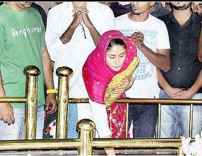 Kareena Kapoor at Gurdwara