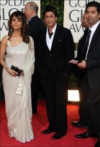 Shahrukh Khan With Gauri at Golden Globe Award