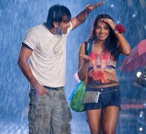 Bipasha Basu and Ranbir Rain Still