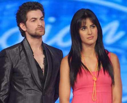 Neil Nitin Mukesh and Katrina at Idian Idol