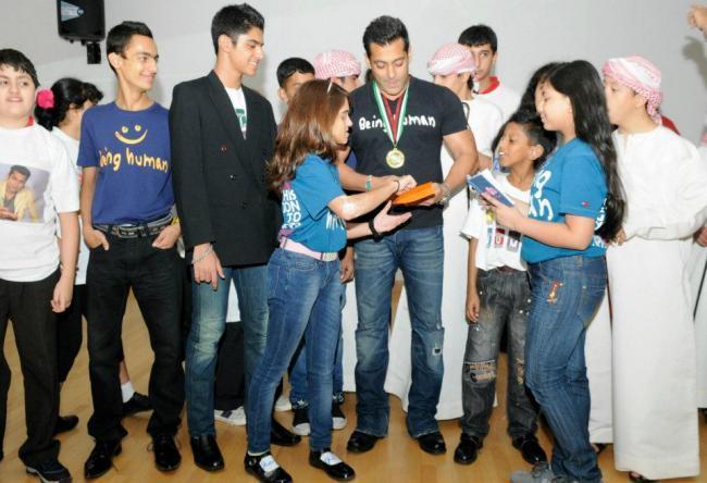 Bollywood Superstar Salman Khan at Rashid Pediatric Therapy Centre