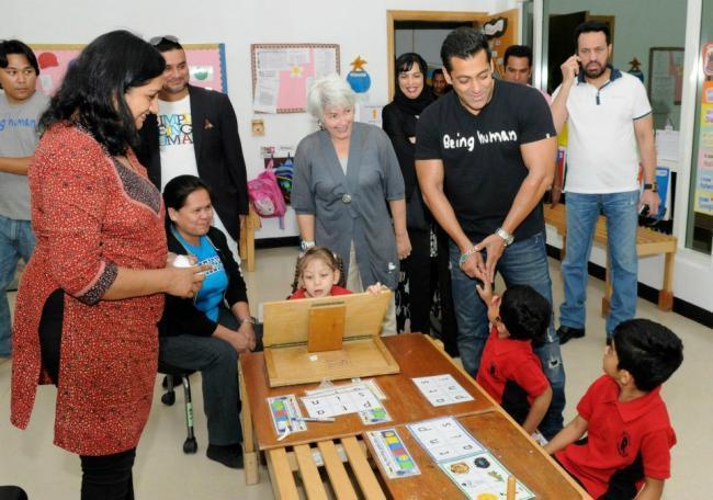 Salman Khan at Rashid Pediatric Therapy Centre In Dubai