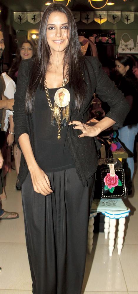 Black Beauty Neha Dhupia at the Opening of Fluke Store
