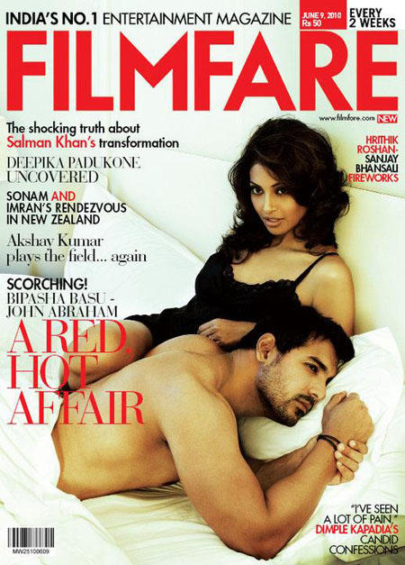 Bipasha Basu and John Cover Filmfare