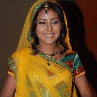 Pratyusha Banerjee Smiling Pic In Yellow Saree
