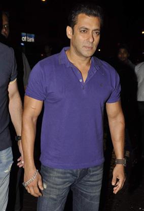 Salman Khan Purple Color T Shirt Pic