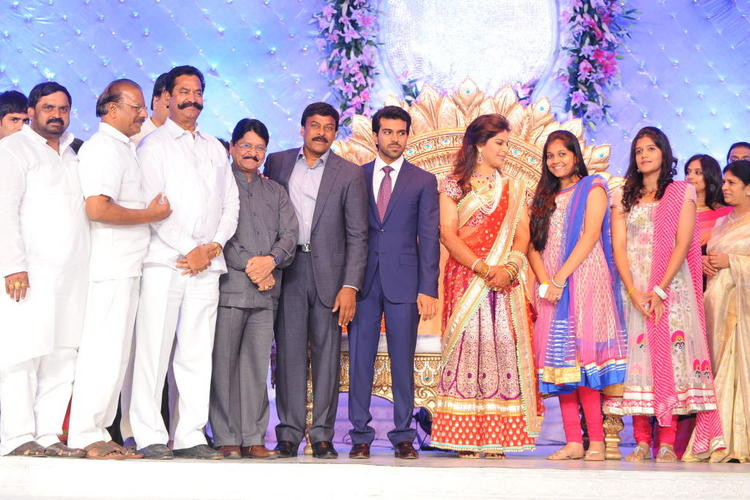 Celebs Attend at Ram Charan and Upasana Wedding Reception