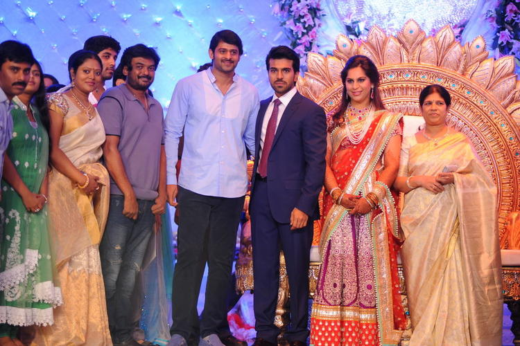 Prabhas Spotted at Ram Charan and Upasana Wedding Reception