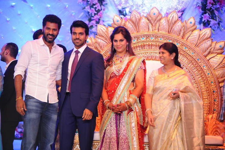 Prabu Deva Poses With Ram Charan and Upasana