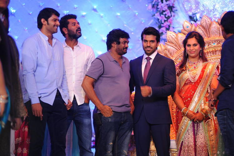 Prabu Deva at The Wedding Reception Of Ram Charan