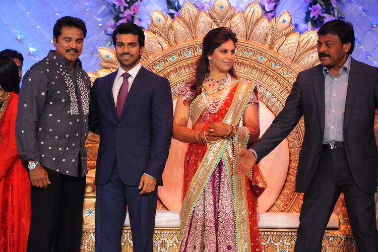 Ram Charan and Upasana Wedding Reception at Novaltel hotel Hyderabad