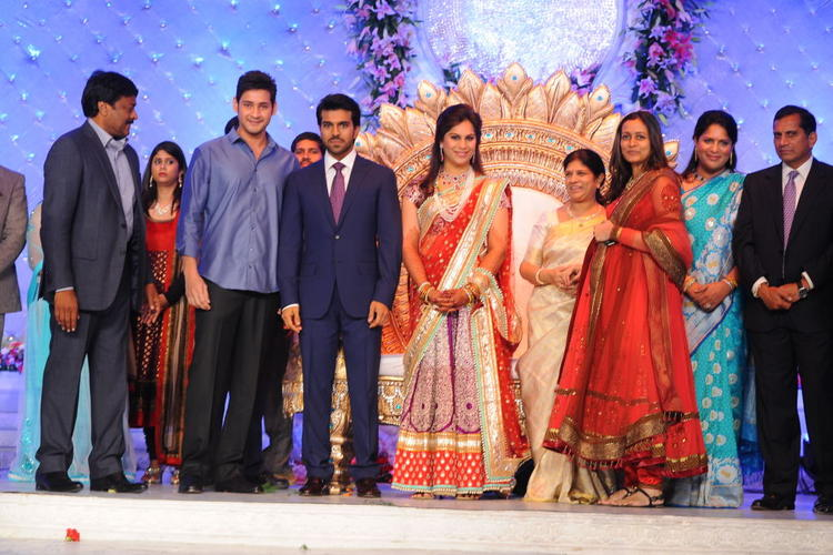 Ram Charan and Upasana Wedding Reception Still at Novaltel Hotel