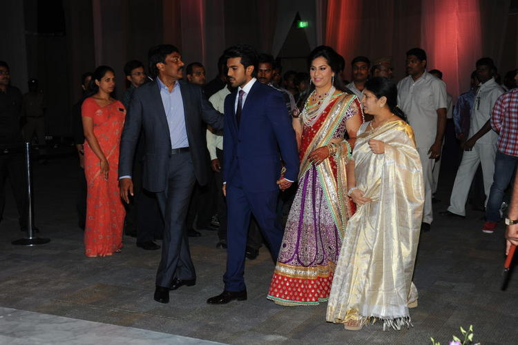 Telugu Star Ram Charan Wedding Reception Pic