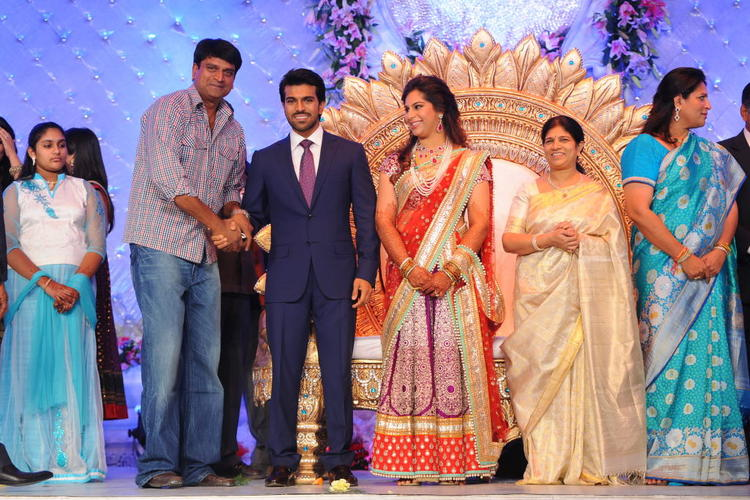 Telugu Star Ram Charan Wedding Reception Still