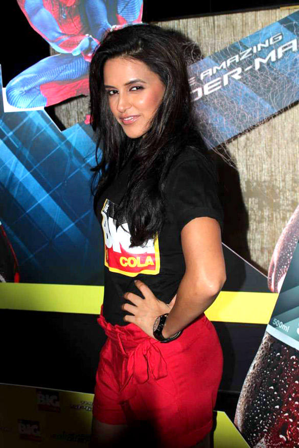 Neha Dhupia Spotted at The Launch Of Big Cola