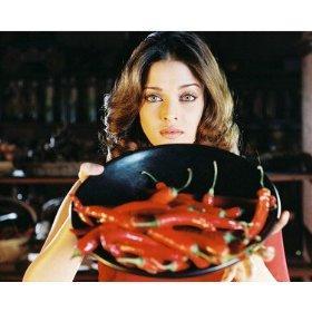 Aishwarya Rai Poses With Red Chilli