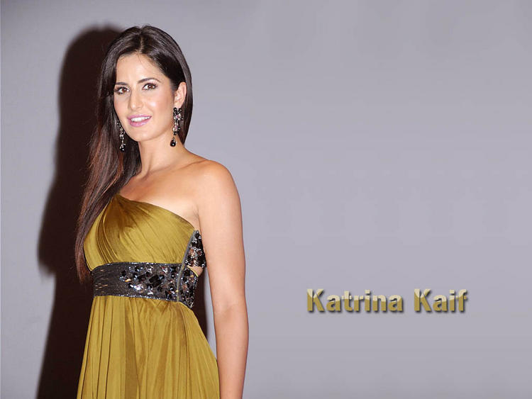Charming Actress Katrina Kaif Sexy Dress Hot Wallpaper