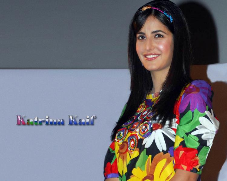 Katrina Kaif Multiful Color Dress Wallpaper