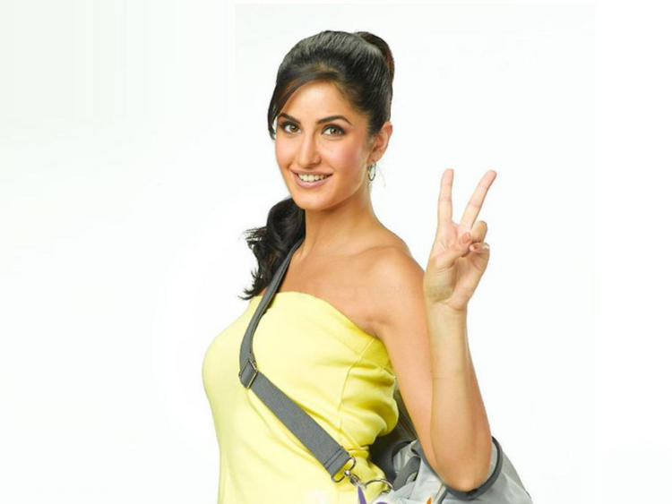 Katrina Kaif Picture In Tight Yellow Shirt