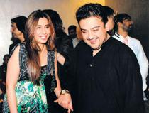 Adnan Sami and His Wife Sabah