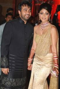 Shilpa Shetty and Raj Kundra Reception Photo