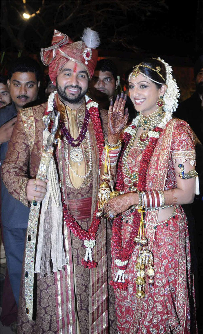 Shilpa Shetty and Raj Kunrda Wedding Photo
