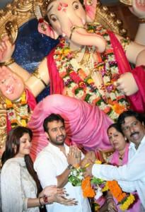 Shilpa Shetty Celebrate Ganesh Puja