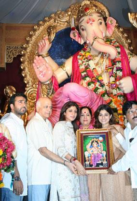 Shilpa Shetty at Ganesh Puja