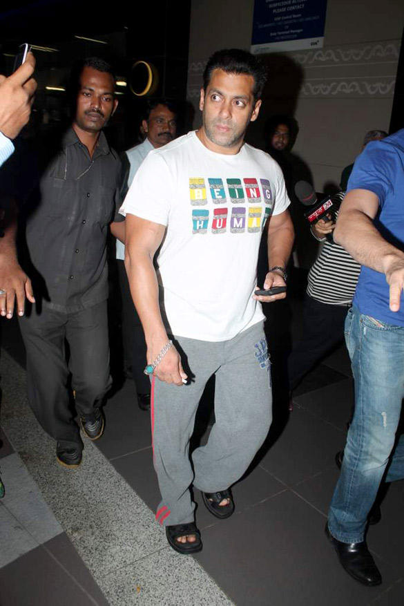 Salman Khan In Cool Casual Look Snapped at Airport