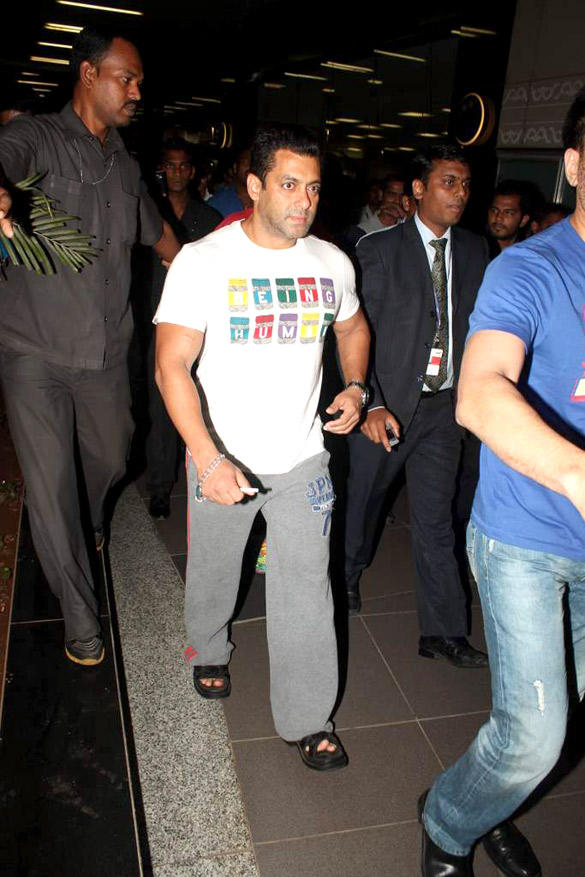 Salman Khan Spotted at Airport In Casual Dress